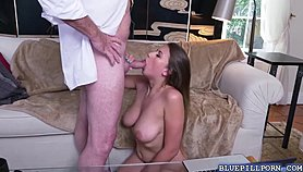 Busty Ivy Rose shows naked and got fuck in a couch Free Porn