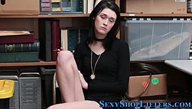 Jizzed amateur shoplifter